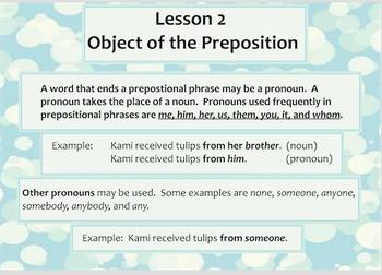 Lesson 1 Prepositions/Lesson 2 Object of Preposition