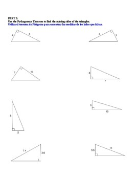 Lesson #1: Right Triangle Vocabulary