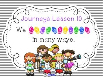 Lesson 10: Houghton Mifflin Journeys 3rd grade for SMART Board