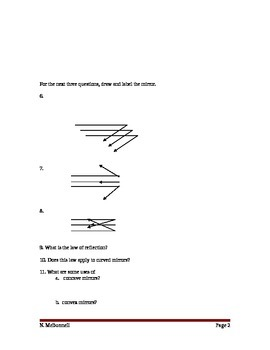 Lesson 10 Mirrors Review Worksheet