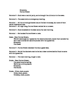 Lesson 11 Click Clack Moo Cows That Type Readers Theater Second Grade