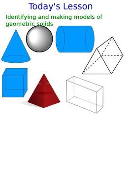 Lesson 113 Models of Geometric Solids