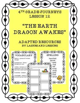 Lesson 12 4th Grade Journeys The Earth Dragon Awakes
