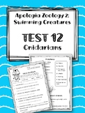 Lesson 12: Cnidarians TEST. Apologia Zoology 2. Swimming Creatures