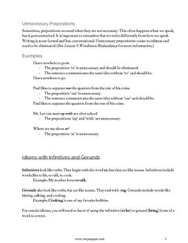 Lesson 12: Idioms