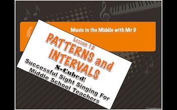 S-Cubed! Lesson 12 Patterns and Intervals  Successful Sight Singing