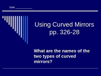 Lesson 12 Using Curved Mirrors