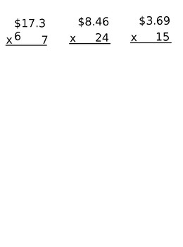 Lesson 123 Multiplying And Dividing Money Amounts (Decimals)