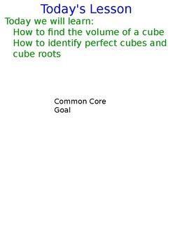 Lesson 128 Volume Of A Cube, Perfect Cubes, And Cube Roots