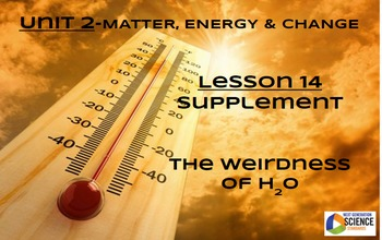 Lesson 14 Supplement--The Weirdness of H2O