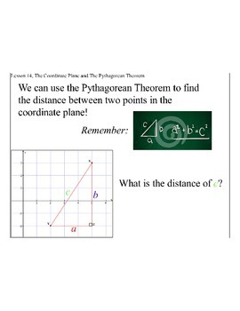 Lesson 14, The Coordinate Plane and the Pythagorean Theorem