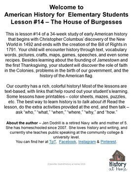 Lesson 14: The House of Burgesses (Early American History/34 lessons)