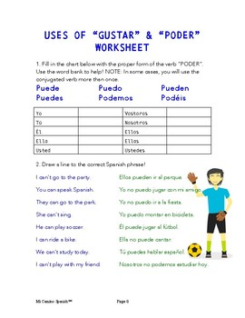 Lesson 15 - Introduction to PODER & Understanding GUSTAR (SPANISH BASICS)