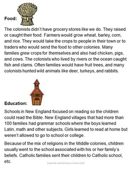 Lesson 15: Life in the Colonies (Early American History/34 lessons)