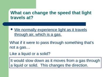 Lesson 15 Refracting Light in Lenses
