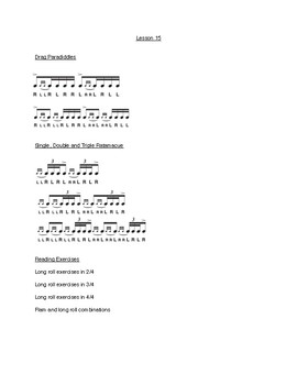 Lesson 15 - Snare Drum Mastery 101 - Final Drag Rudiments, Combo Exercises