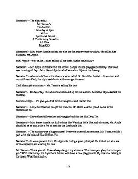 Lesson 16 Mr. Tanen's Tie Trouble Readers Theater Second Grade