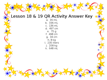 Lesson 18/19 QR Activity
