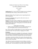 Lesson Plan 2 Adapted/Crafting True Stories Units of Study Writing Gr3