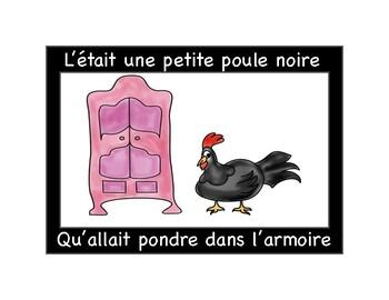 Lesson 2: French Colors -- La petite poule grise IMAGE SONG BOOK