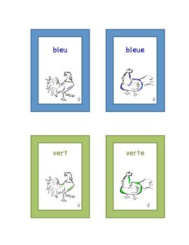 French Colors WORD WALL & FLASH CARDS