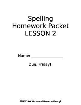 Lesson 2 Grade 2 StoryTown Spelling