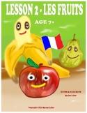 Lesson 2 - Les Fruits - Crossword - Age 7+