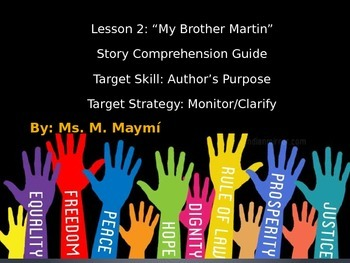 Lesson 2 My Brother Martin Comprehension Guide Journeys Common Core 2014