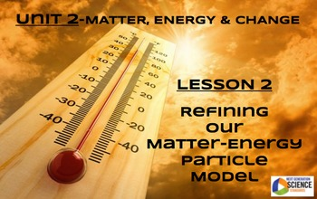 STEM/NGSS Lesson 2--Refining Our Matter-Energy Particle Model