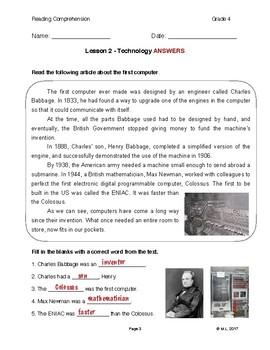 Lesson 2 - Technology (Grade 4)