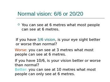Lesson 21 Vision Problems