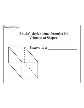 Lesson 23, Volume of 3D Solids