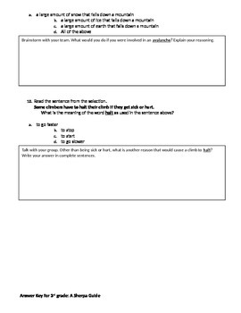 FSA and PARCC Test Prep - Lesson 25 - A Sherpa Guide - Journeys Readers
