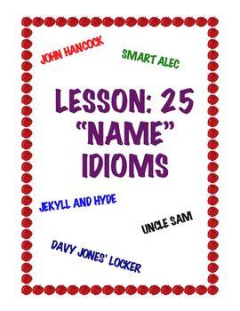 """Lesson: 25 """"Name"""" Idioms"""