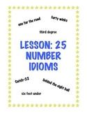 Lesson: 25 Number Idioms