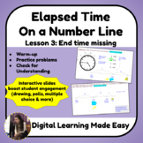Lesson 3: Elapsed Time on a Number Line: End Time Missing [Pear Deck]