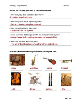 Reading G4-5 - Lesson 3: Music