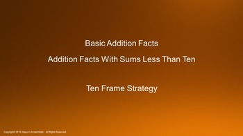 Lesson 3 Part 1: Basic Addition Facts with Sums Less Than Ten