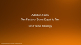 Lesson 3 Part 2: Ten Facts or Sums That Equal Ten