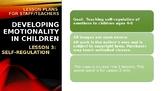 Lesson Plan 3: Teaching Self-Regulation ages 3-9