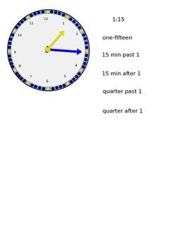 Lesson 34 Time to the Quarter Hour
