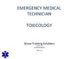 EMT/EMR LESSON ON TOXICOLOGY (POISONING) TRAINING PRESENTATION