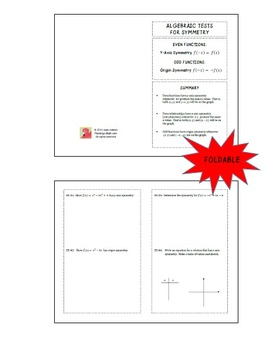 Algebraic Tests for Symmetry Foldable (FREEBIE)