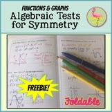 Algebraic Tests for Symmetry Foldable Freebie