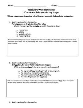 FSA and PARCC Test Prep - Lesson 4 - Big Bridges - Journeys Vocabulary Readers