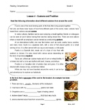 Reading G4-5 - Lesson 4: Customs and Traditions