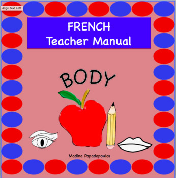 French Body Parts TEACHER MANUAL