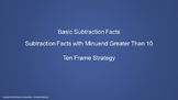 Lesson 4 Part 2: Subtraction Facts with Minuends Greater Than 10