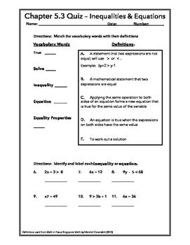 Lesson 5.3 Quiz - Algebra