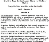 Lesson Plan 5 Adapted Crafting True Stories Unit Gr. 3